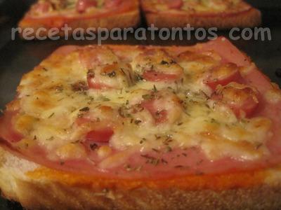 Minipizzas de pan de molde