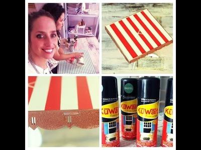 Pintar con aerosoles - Bandeja con Pie para Tortas - Paula Domenech