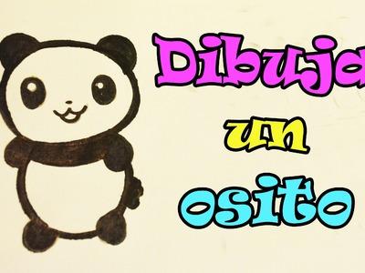 Aprende a dibujar un pandita kawaii fácil Dibujand