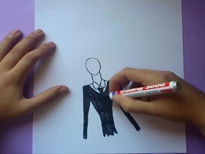 Como dibujar a Slenderman paso a paso | How to draw Slenderman