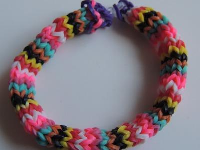 Como hacer una pulsera de gomitas Hexafish 6 pins. Rainbow Loom Hexafish.