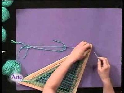 Cómo tejer una capa en telar