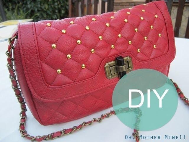 DIY Bolso tachuelas vintage. DIY vintage studded bag
