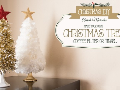 DIY Christmas Tree ( Coffee Filter - Tinsel) Arbol Navideño