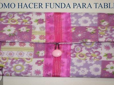 DIY: COMO HACER FUNDA PARA TABLET