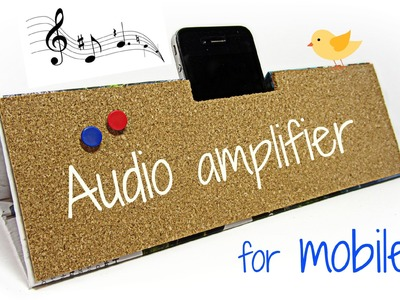 DIY: Mobile audio amplifier. Amplificador para móvil (celular).