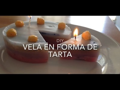 DIY - Vela en forma de tarta!