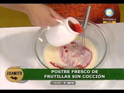 Fresco y fácil: Postre de frutillas sin cocción.