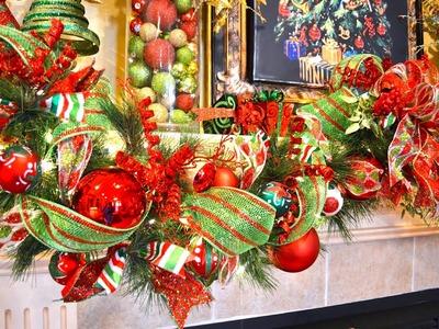 How to decorate a Garland for Christmas| Como Decorar una Guirnalda para navidad