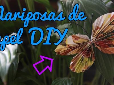 Mariposas de papel DIY (Manualidades Fáciles)