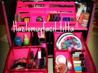 Neceser paso paso♥ Neceser de maquillaje♥