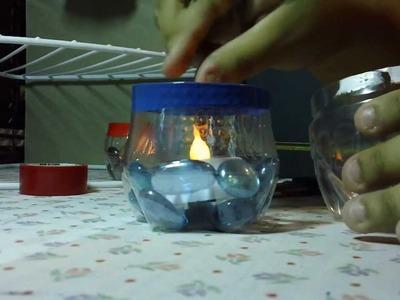 Porta velas reciclado