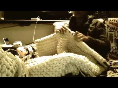 Puff Gigante de tricot - Señorita Galante