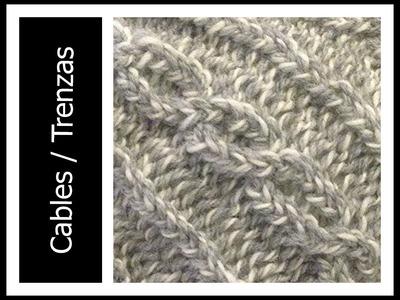 Tejer PUNTO CABLES. TRENZAZ en Telar Redondo. Circular - Cables on a Loom in Spanish