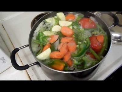 Bency caldo o sopa de verduras o vegetales