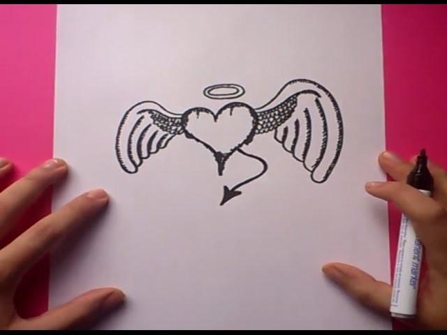 Como Dibujar Un Corazon Con Alas Paso A Paso 2 How To Draw A Winged