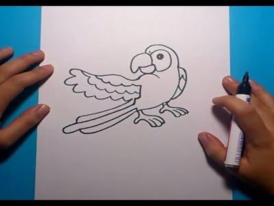 Como dibujar un loro paso a paso   How to draw a parrot