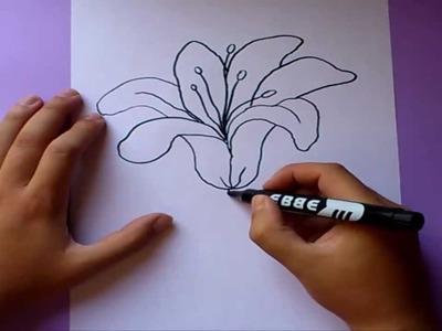 Como dibujar una flor paso a paso  | How to draw a flower