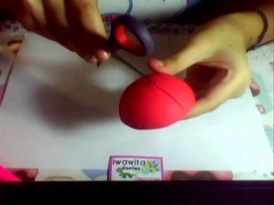 Cómo hacer coquito portanota de masa flexible. porcelana fria TUTORIAL