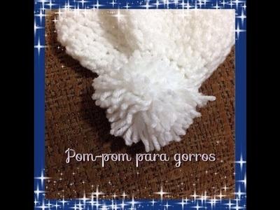 Como hacer pompones para gorros.wool cap