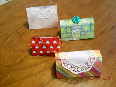 Como hacer una bolsita para regalo- How to make a bag to gift-