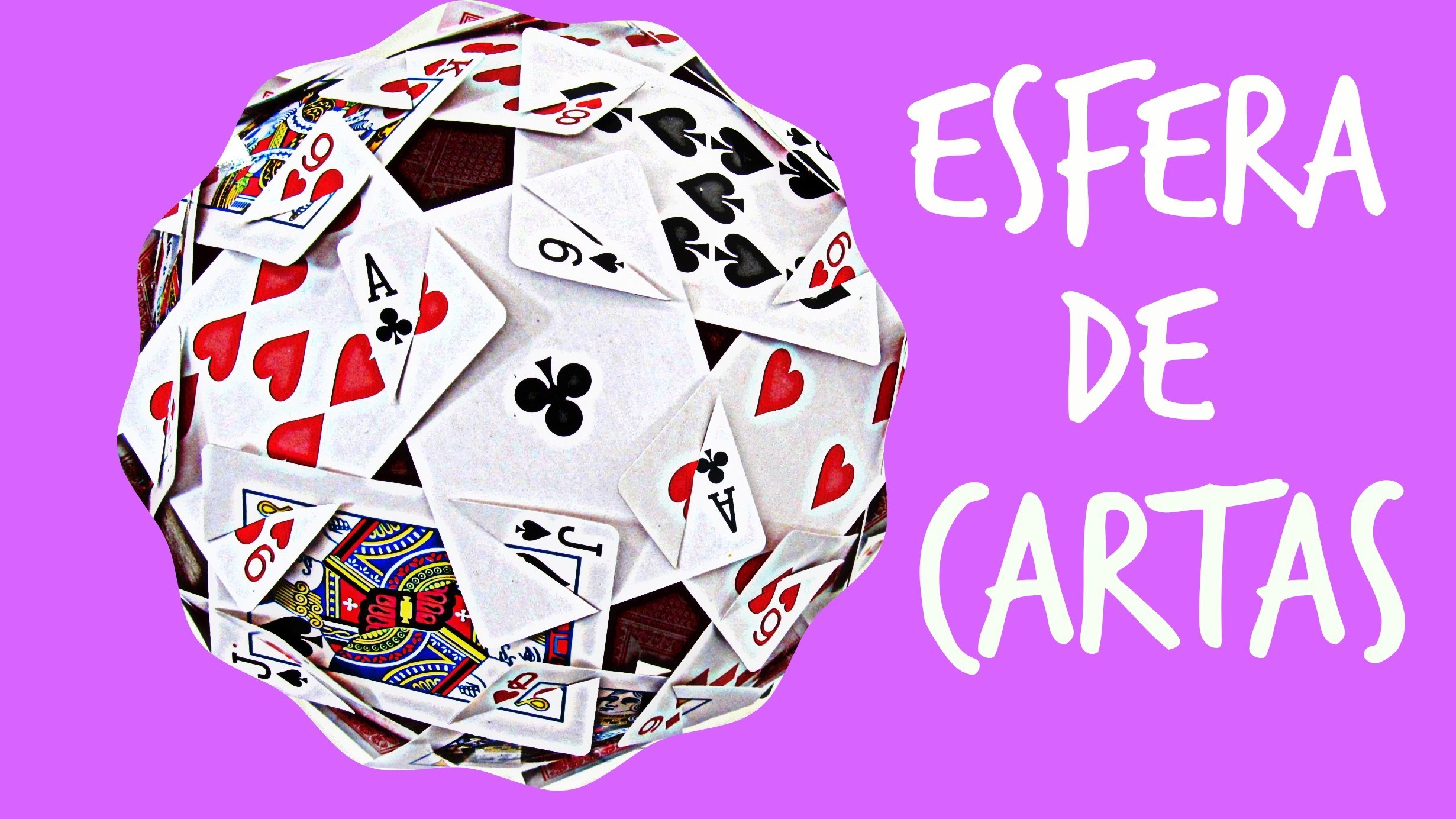 Cómo hacer una esfera con cartas. How to make a sphere with cards.