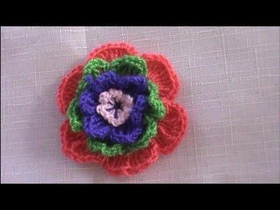 Como Tejer Una Flor En Crochet