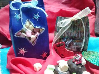 DIY, Cajita con ventanita ideal para envolver postres o dulces. cupcake packaging