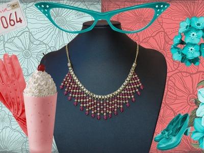 DIY Manualidades bisuteria - collares - collar egipcio jade rosa