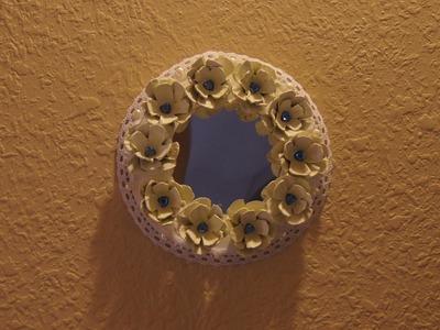 DIY- MARCO PORTA RETRATO.ESPEJO con material reciclado
