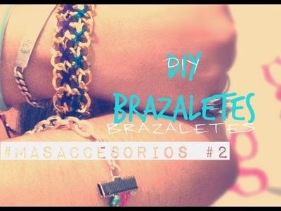 DIY Pulseras con Cadena e Hilo. Bracelet Chain