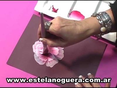 Estela Noguera pinta rosas