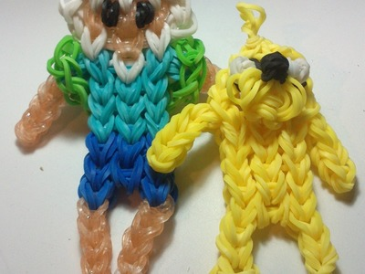 Finn el humano  con gomitas. Finn the Human Adventure Time rainbow loom