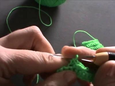 Ganchillo o crochet: Como hacer el punto escalera