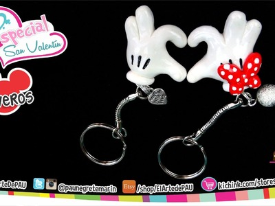 Llaveros Corazón Mickey & Minnie. Mickey & Minnie Heart Keychain