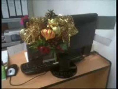 Manualidad DIY navideña adorno para escritorio (monitor)
