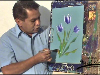 Miguel Rincón Pincelada Básica Tulipan