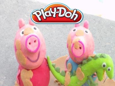 Play-Doh Peppa Pig,George,Rebeca y su familia en plastilina.Animación con plastelina.Play-Doh
