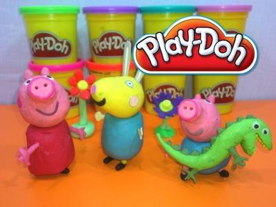 PLAY-DOH PEPPA PIG,GEORGE Y REBECA.PEPPA PIG EN PLASTILINA.MANUALIDADES EN PLASTELINA.
