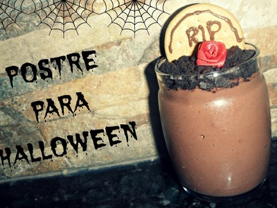 POSTRE PARA HALLOWEEN -TUTORIAL [ESPECIAL HALLOWEEN] RIQUISIMO Y FACIL ♥