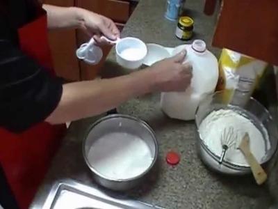 Rollos de Pan -  Preparación de la masa-VIDEO #1
