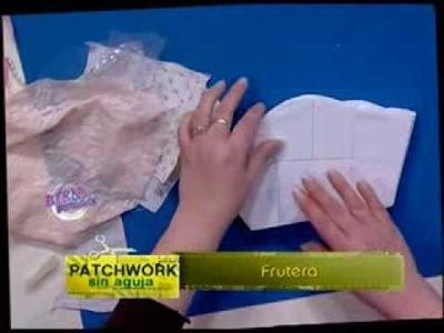 Silvia Nieruczkow - Bienvenidas TV - Realiza en patchwork sin agujas una frutera