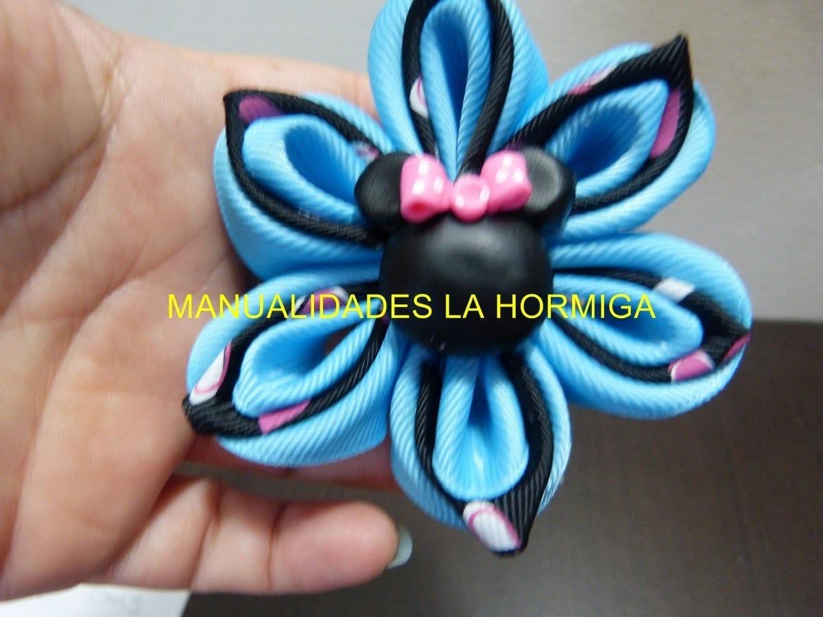 Tutorial paso a paso de  flores para decorar moños del cabello . vídeo No.197