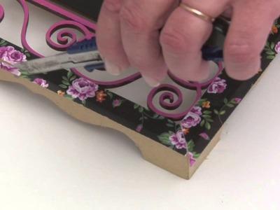 Como aplicar laminas de decoupage y pintura para pizarron sobre Fibro fácil. madera? Eq Arte