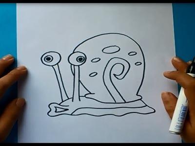 Como dibujar a Gary paso a paso - Bob esponja | How to draw Gary - Sponge bob