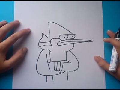 Como dibujar a Mordecai paso a paso 2 - Un show mas | How to draw Mordecai 2 - Regular show