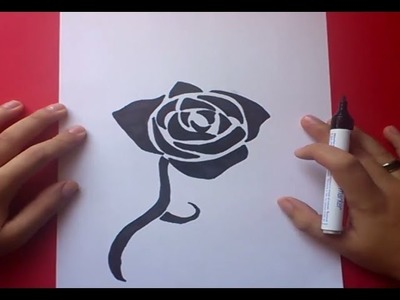 Como dibujar una rosa paso a paso 2 | How to draw a rose 2