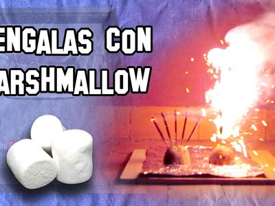 ✔ Cómo Hacer Bengalas con Marshmallow    How to Make Marshmallow flares