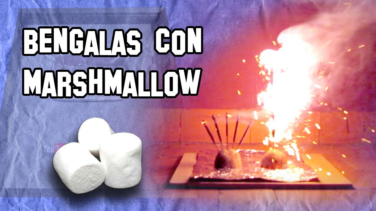 ✔ Cómo Hacer Bengalas con Marshmallow |  How to Make Marshmallow flares