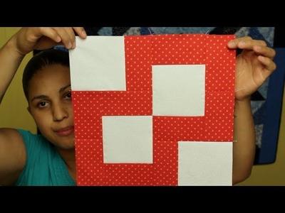 Como hacer cuadrado de patchwork- Esquinas de paciencia- Block #6